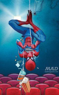 MAD-Magazine-Spider-Man-Tweets-Art.jpg 555×890 pixels
