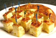 Tapas --- Tortilla Espanola (kind of like an omelette, with potatoes in it). I lived on this stuff.