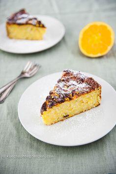 Italian orange rice cake @tastewithoutborders.com © Qin Xie-Krieger Easy Cake Recipes, Cookie Recipes, Italian Sponge Cake, Flours Banana Bread, Biscuits, Yogurt Cake, Rice Cakes, Let Them Eat Cake, No Bake Desserts