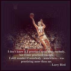Larry Bird on dedication