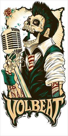 Volbeat Rebel Skull