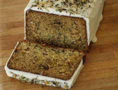 Chamomile Tea Cake with Honey Icing (tested, served at a tea party, and very good)