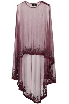 Wine floral beads embroidered cape available only at Pernia's Pop Up Shop.