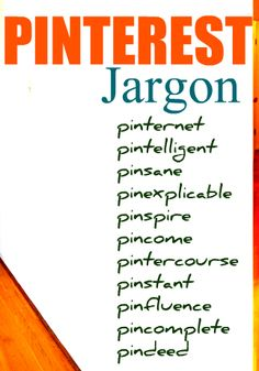 Pinterest jargon