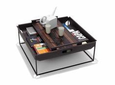 Magazine BIN - Designer Coffee tables by Linteloo ✓ Comprehensive product & design information ✓ Catalogs ➜ Get inspired now Table Furniture, Furniture Design, Urban Lifestyle, Coffee Table Magazine, Home Board, Coffee Table Design, Coffee Tables, Hidden Storage, Modern Table