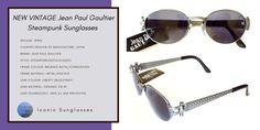 Steampunk Sunglasses, Vintage Sunglasses, Jay Z, Vintage Jeans, Jean Paul Gaultier, Framing Materials, Blue Grey, Lens, Classic