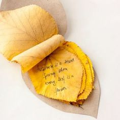 Autumn leaves notebook - Follow @Guidecentral for beautiful #crafts and #DIY