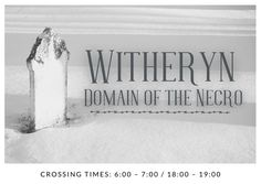 A banner image depicting the domain of Witheryn from The Cruel Gods. Banner Images, God, Dios, Allah, The Lord