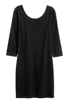 Žerzejové šaty - Černá - ŽENY | H&M CZ