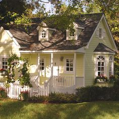 Coral Gables Cottage Playhouse from PoshTots| $50000 Kid Play House, For Real! This looks like any normal home #toooverthetop #spoiledkids #kidsplayhouses