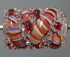 Red Lampwork  Focal Bead  SALE by RonsickOriginals on Etsy, $10.00