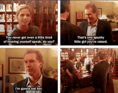 """17 Reasons You Wish Giles From """"Buffy"""" Was Your Dad.Giles is the MAN, don't mess with his slayer! Spike Buffy, Buffy The Vampire Slayer, Buffy Summers, Joss Whedon, Book Tv, Best Shows Ever, Movies And Tv Shows, Nerdy, Movie Tv"""