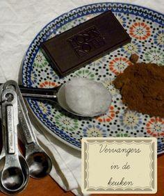 Vervangers in de Keuken | Vervangers voor Zoet, meel, verdikkingsmiddelen en rijsmiddelen, eieren, melkproducten en zoet in de keuken. Goede alternatieven..