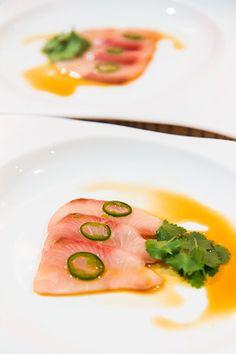 Yellowtail Sashimi with Jalapeno at Nobu Melbourne.