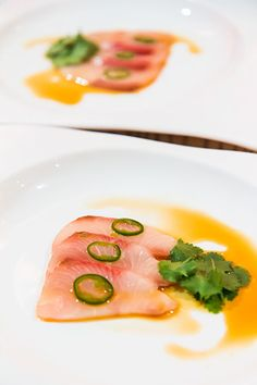 Yellowtail Sashimi with Jalapeno at Nobu Melbourne.