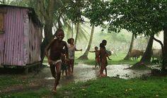 Children at play at Laguna de Perlas, Nicaragua by Jack Losh