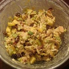 Easy Coronation Chicken With Mayonnaise, Mango Chutney, Curry Powder, Lime Zest, Fresh Lime Juice, Salt, Fillets