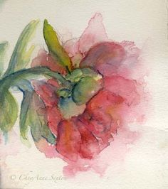 Exquisite Love Peony Blossom  watercolor giclee by CheyAnneSexton