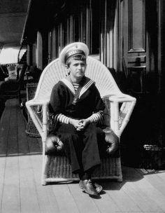 "Tsesarevich on the yacht ""Standart"". (1914)"