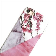 Pink Marble Blossoms Phone Case