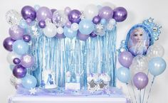 High Quality Frozen Balloon Arch with Confetti Balloons, Frozen Balloon Garland, Frozen birthday party, Frozen party decorations, Frozen 2 Frozen Birthday Party, Frozen Theme Party, 2nd Birthday Parties, 4th Birthday, Geek Birthday, Birthday Cakes, Birthday Ideas, Frozen Balloons, Confetti Balloons