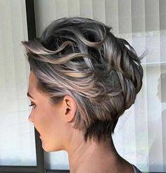 Kurz Grau Hair Style