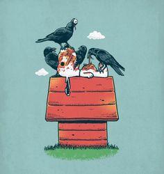 28 Illustrations pleines d'humour et de références geek, de détournements et parodies de l'illustrateur Ben6835.
