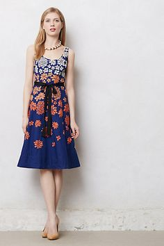 Shade Garden Dress #anthropologie.  Kira - for you for rehearsal dinner?  It's soooo pretty.  Someone should wear it.  :)