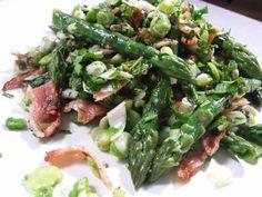 Asparagus, bean and bacon salad