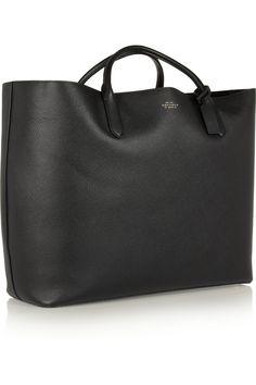 Smythson|Panama large textured-leather tote|NET-A-PORTER.COM