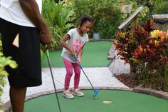 Fish Hole Adventure Golf in Bradenton Beach, FL was the perfect place for family date night