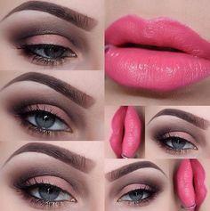 Soft smokey eye | catwalk palette and pink lips