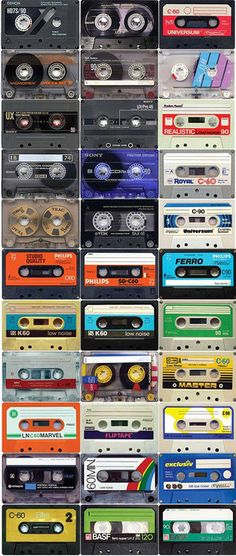 tapes ~ I had a shoebox filled with my tapes (made from holding the tape recorder up to radio or tv)