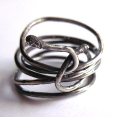 Sterling Silver Snake Ring Unisex Boho Hippy Spiral Coil Wire Wrapped Men Women Fashion Jewelry. £15.50, via Etsy.
