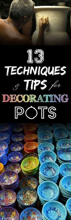Decorating tips and techniques for ceramics on pottery