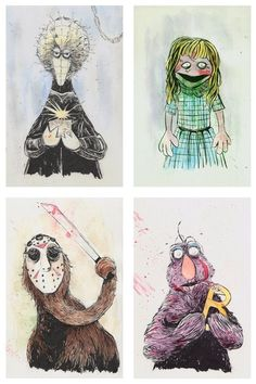 also by illustrator Issac Bidwell, Sesame Street, The Horror Movie