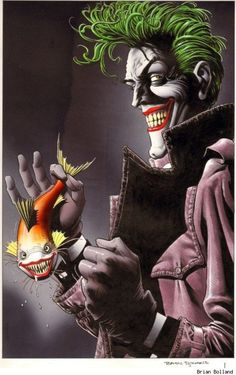 The Joker // painted artwork by Brian Bolland (2008)