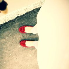 Happy red shoes