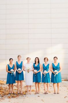 Blue bridesmaid dresses #outerdress