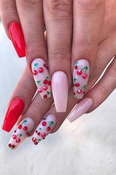 45 cute & stylish summer nails for 2019 - # for # summer nails . - Cute nails - Derek - 45 cute & stylish summer nails for 2019 – # Summer nails – Cute nails – - Pink Summer Nails, Cute Pink Nails, Summer Acrylic Nails, Best Acrylic Nails, Pretty Nails, Funky Nails, Acrylic Nail Designs For Summer, Summer Nail Art, Summer Toenails