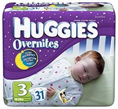 Huggies Overnites Diapers, Size Packages (Pack of (Health and Beauty) Huggies Diapers, Free Diapers, Disposable Diapers, Newborn Care, Childcare, Baby Items, Snug, Toddler Bed, Personal Care