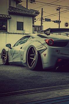 Liberty Walk Cars, Ferrari 458, Lamborghini, Super Sport Cars, Fancy Cars, Latest Cars, Car In The World, Car Photography, Car Wallpapers
