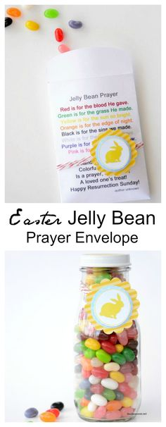Download and print these Free Jelly Bean Prayer Envelopes. A simple, cute Easter Gift that is perfect for church groups and friends.