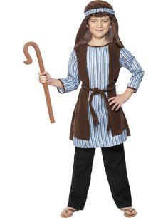 Kids Shepherd costume with robe headpiece and EVA staff is perfect for any Nativity play of Christmas fancy dress.  sc 1 st  Pinterest & Kids Shepherd Costume - Christmas Costumes | costumes | Pinterest ...
