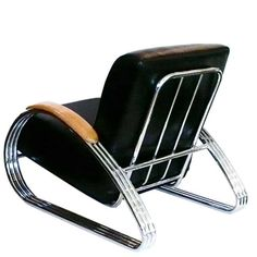 K. E. M. Weber KEM Weber, streamline chair, 1930s. Chromed steel. For Lloyd's, USA.