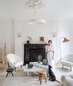 """Athena Calderone on Instagram: """"I have built a beautifully authentic relationship with @livingetcuk magazine over the years — it has been a great honor to have my homes…"""" Home Living Room, Living Spaces, Steel Frame Doors, Interior Styling, Interior Design, Brooklyn Brownstone, Appartement Design, Sofa Set, Decoration"""