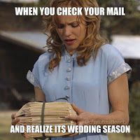 haha seriously this is my life right now. So many weddings such little time. Wedding invites, Wedding memes, funny  http://www.lifehealthbeautyhome.com/