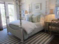 Guest room after 2/ Mrs. Howard Personal Shopper  Love the powder blue bedding.  Light and airy room