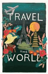 Designed by Anna Bond for Rifle Paper Co. the Travel Poster Calendar is available at Northlight Homestore