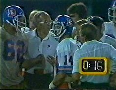Left guard TOM GLASSIC (62), quarterback NORRIS WEESE (14) and defensive coordinator JOE COLLIER--September 11, 1978